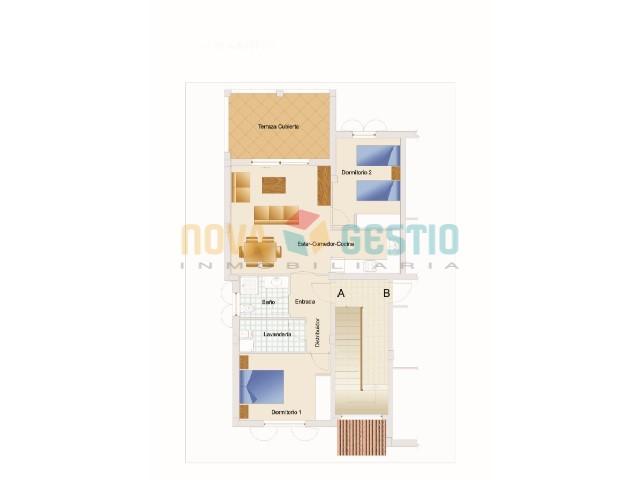 Plano apartamento Cala Anguila ref 478