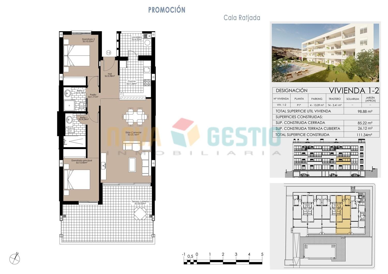 Plano vivienda 1ª planta (1-2)