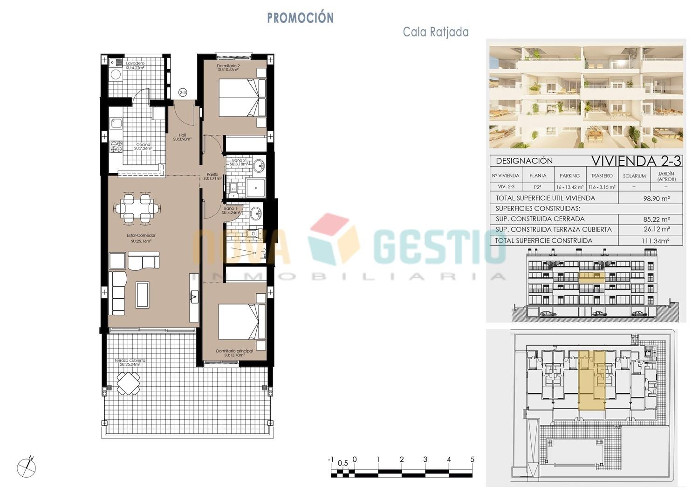 Plano vivienda 2ª planta (2-3)